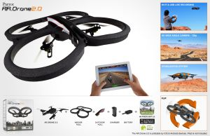 AR.Drone 2.0. Parrot New Wi-fi Quadricopter